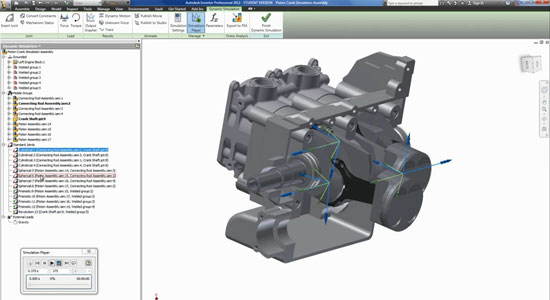 Autodesk Inventor Dynamic Simulation