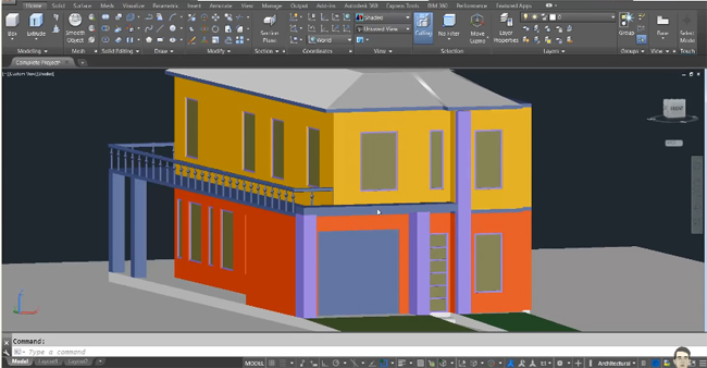 How to complete an advanced house project with AutoCAD
