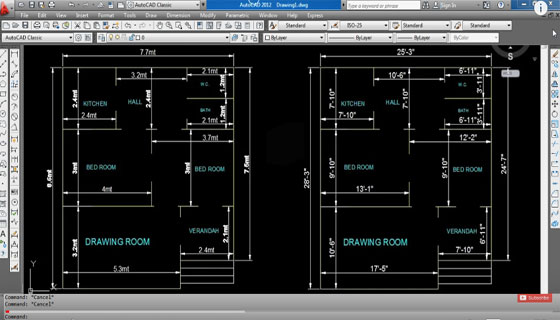 Converting AutoCAD Meter Drawing into Inch Feet Drawing