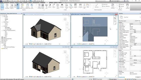 How to efficiently utilize design options in Revit