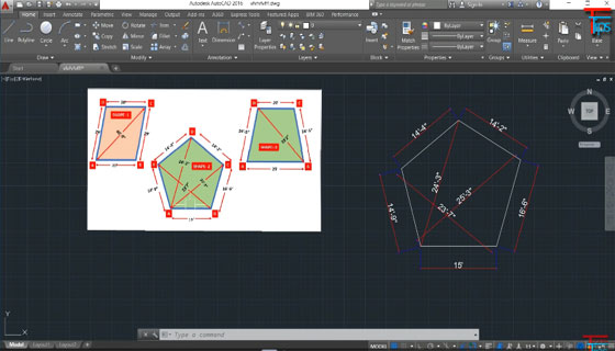 How to design irregular shape in AutoCAD