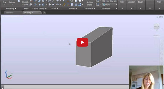 Apply PressPull command inside AutoCAD to add or subtract material from any 3D model