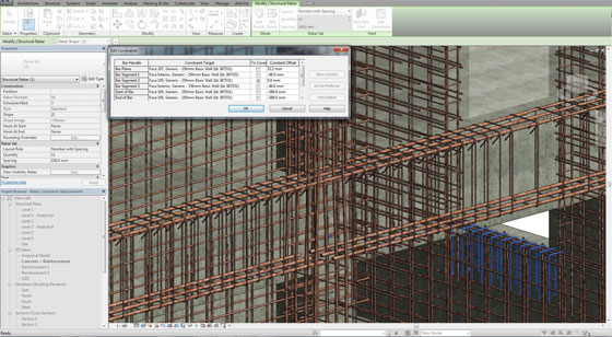 Enhancements with Rebar Constraints in Revit 2016
