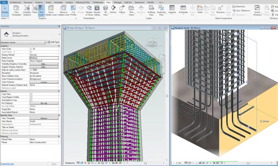 Revit 2018 – New Reinforced Concrete features
