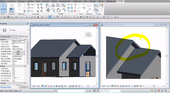 Some useful tips to create a gabled roof in Revit 2017