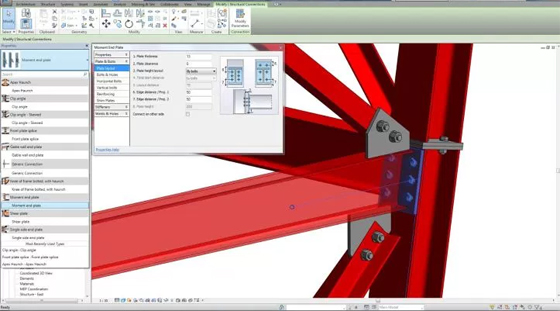 Revit Structure 2017 Steel Connection Enhancement