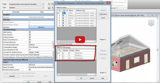 Roombook Areabook Buildingbook Extension for Revit 2015