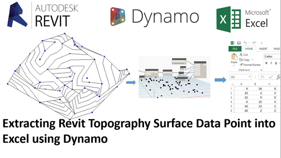 Topography from Excel Data Point in Revit 2017