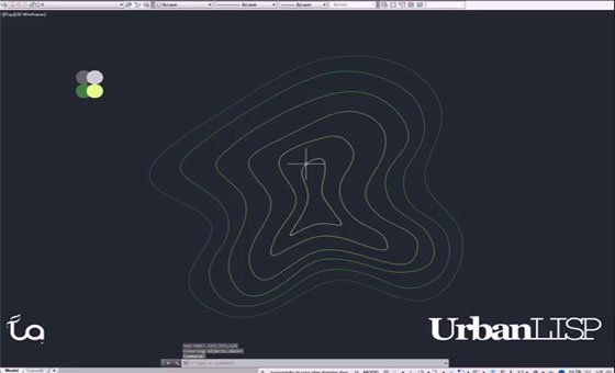 Learn to draw topography lines with AutoCAD