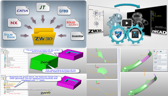 ZWSOFT has released ZW3D 2014 SP with 300 improvements in CAD and CAM modules